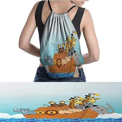 warmfamily Waterproof Backpack Ark Waves Sea Water Cartoon Characters A  11.8 quot ... 6981701144