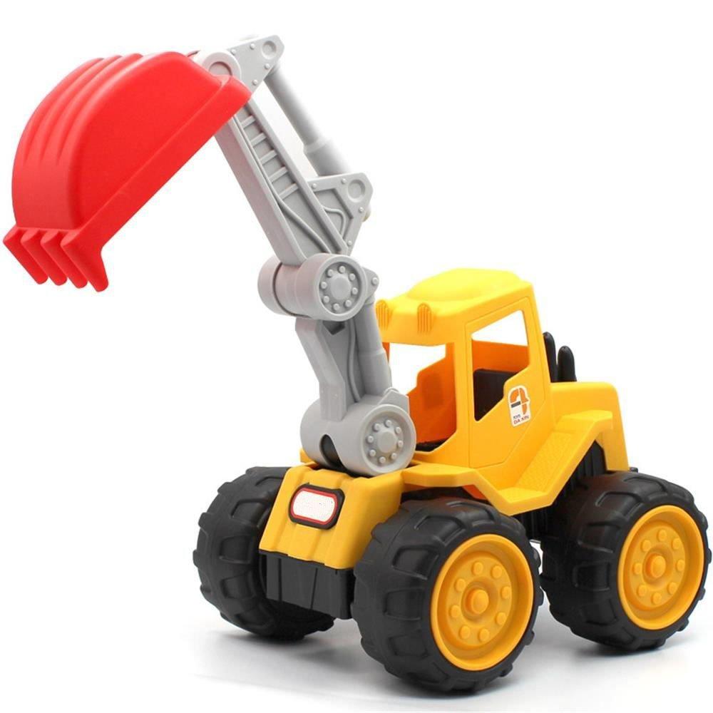 Mbros.KRJW Truck Vehicle Toy Sturdy Beach Toy Children Large Machineshop Durable Truck Series Excavator Bulldozer Dump Truck Kid Toy (Excavator)