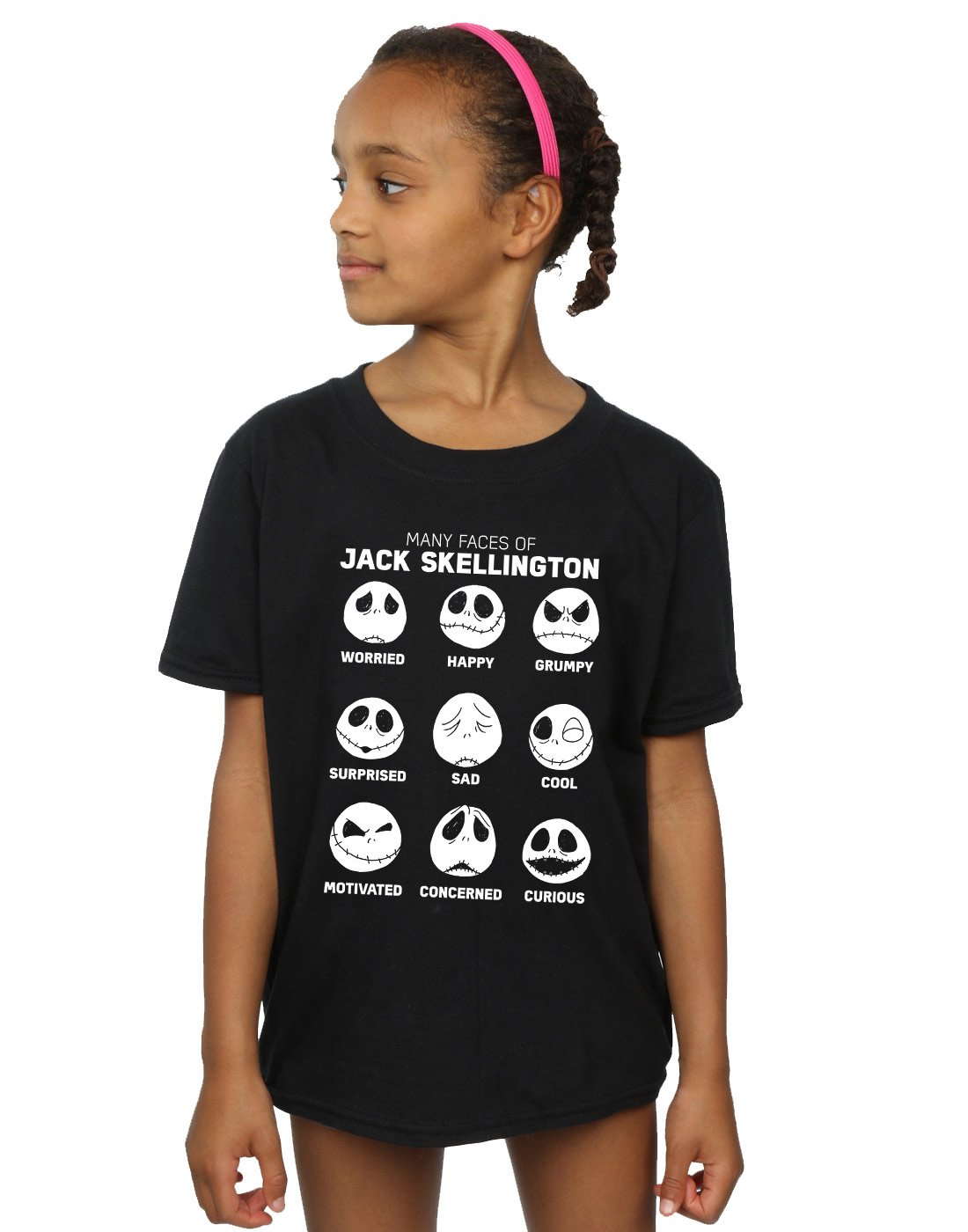 Disney Girls Nightmare Before Christmas The Many Faces Of Jack Tshirt
