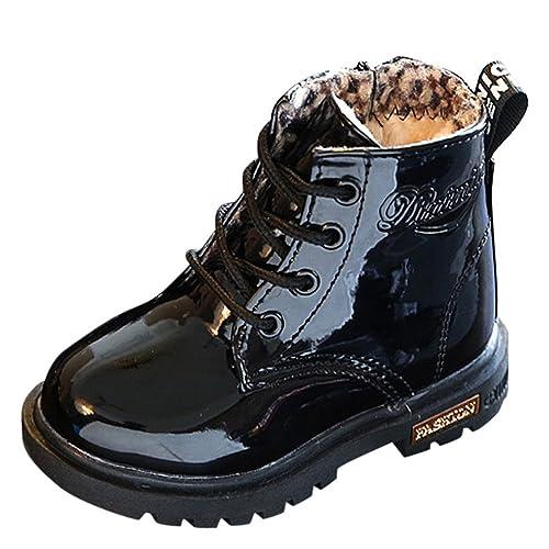 Fossen Niño Niña Botines Cuero Botas Zapatillas Deportes Zapatos de Escuela para: Amazon.es: Zapatos y complementos