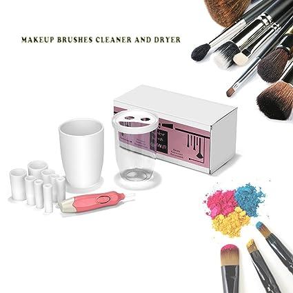 Limpiador de pinceles de maquillaje secador de y máquina, mocent portátil electrónico automático limpiador de