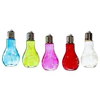 Set Aus 5 Led Lampen In Gluhbirnen Form Zum Aufstellen Und Hangen