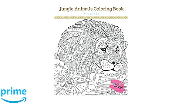 Amazon Com Jungle Animals A Jungle Animals Coloring Book