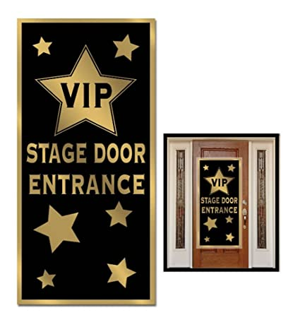 HOLLYWOOD Oscars 1920u0027s Gatsby VIP STAGE DOOR ENTRANCE COVER Party Decoration  sc 1 st  Amazon.com & Amazon.com: HOLLYWOOD Oscars 1920u0027s Gatsby VIP STAGE DOOR ENTRANCE ...