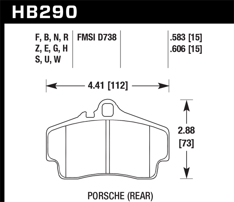 Hawk Performance HB290F.583 HPS Performance Ceramic Brake Pad