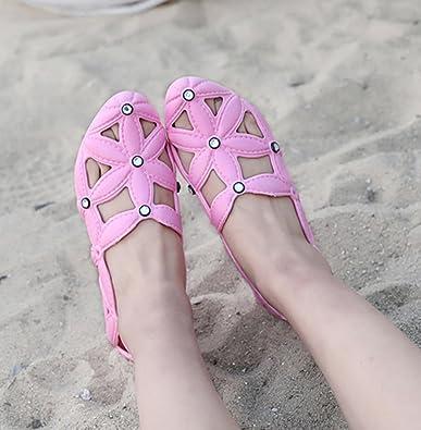 Lvguang Donna Traspirante Pantofole da Spiaggia Scava Fuori i Sandali Antiscivolo Zoccoli Clogs Sport all'Aria Aperta Casual Scarpe Bianca,Asia 37��23.5cm��