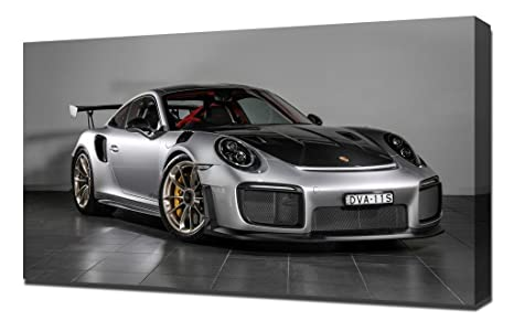 Amazon.com: 2018 Porsche 911 Gt2 Rs - Canvas Art Print - Wall Art - Canvas Wrap: Posters & Prints