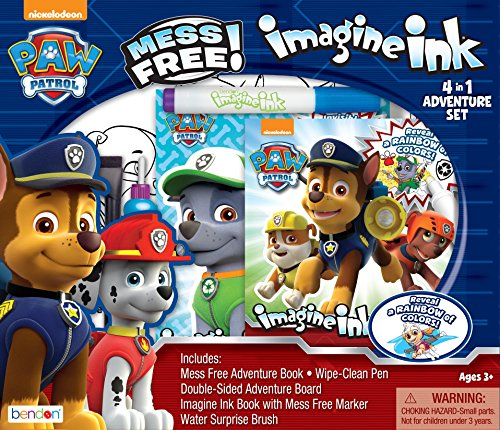 Bendon 41849 Paw Patrol Imagine Ink 4-in-1 Activity Box Set,