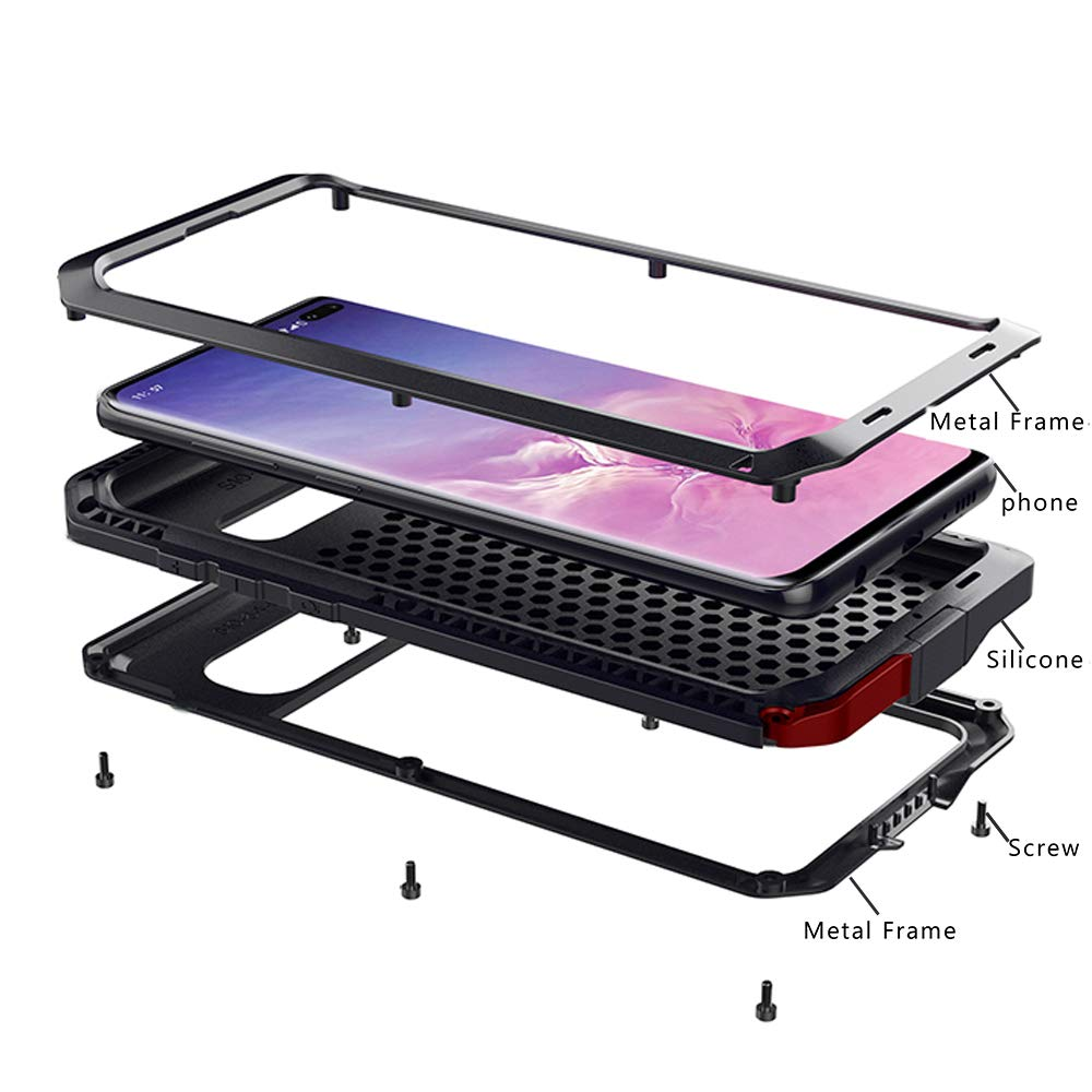 Funda Aluminio Y Silicona Para Samsung S10 Plus Marrkey