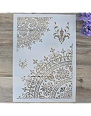 DIY Decorative Mandala Stencil Template for Painting on Walls Furniture Crafts, Mandala
