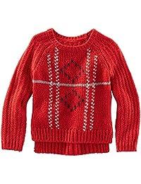 OshKosh B'gosh Little Girls' Pullover Sweater (Toddler/Kid) - Red - 6X