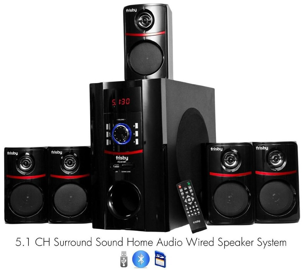 Amazon.com: Frisby FS 5010BT 5.1 Surround Sound Home Theater Speakers  System With Bluetooth USB/SD And Remote: Electronics