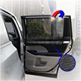 ggomaART Car Side Window Sun Shade - Universal Reversible Magnetic Curtain for Baby and Kids with Sun Protection Block…