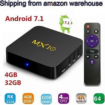 Android 7.1 TV Box, Smart TV Box DDR3 4G da 32 GB TV Box 4K HD