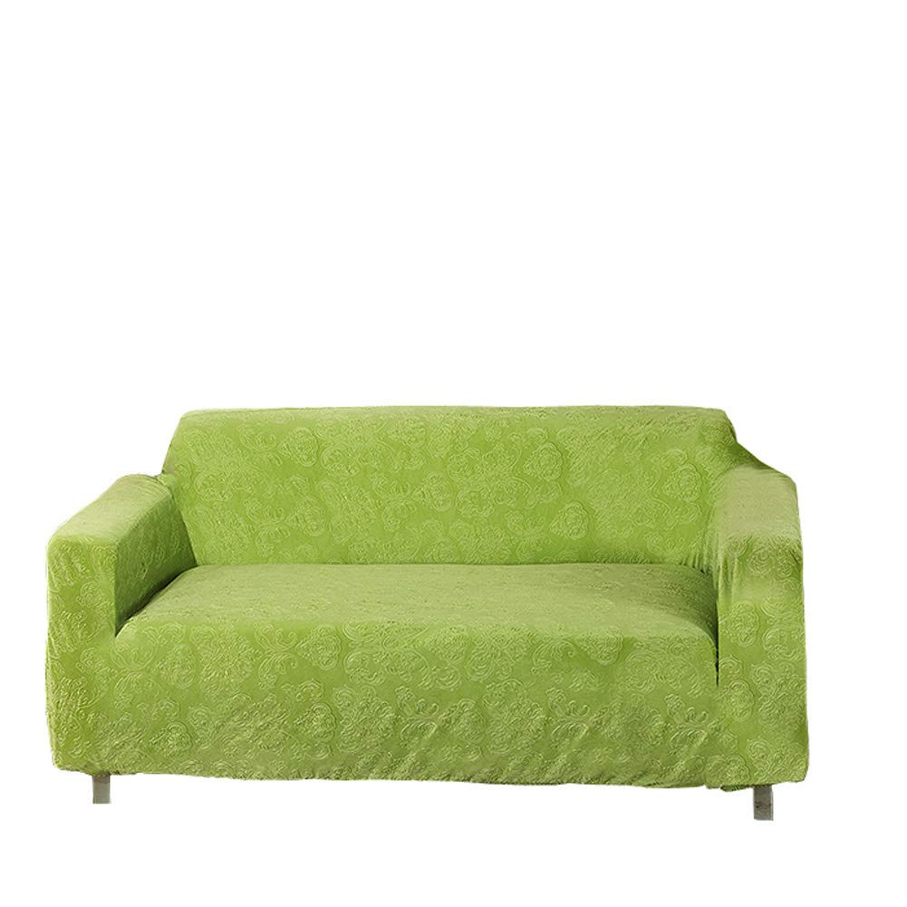 Moving garden jacquard sofa covers stretch elastic fabric flower printing chari loveseat sofa slipcovers pet dog couch protector 3 seater grass green