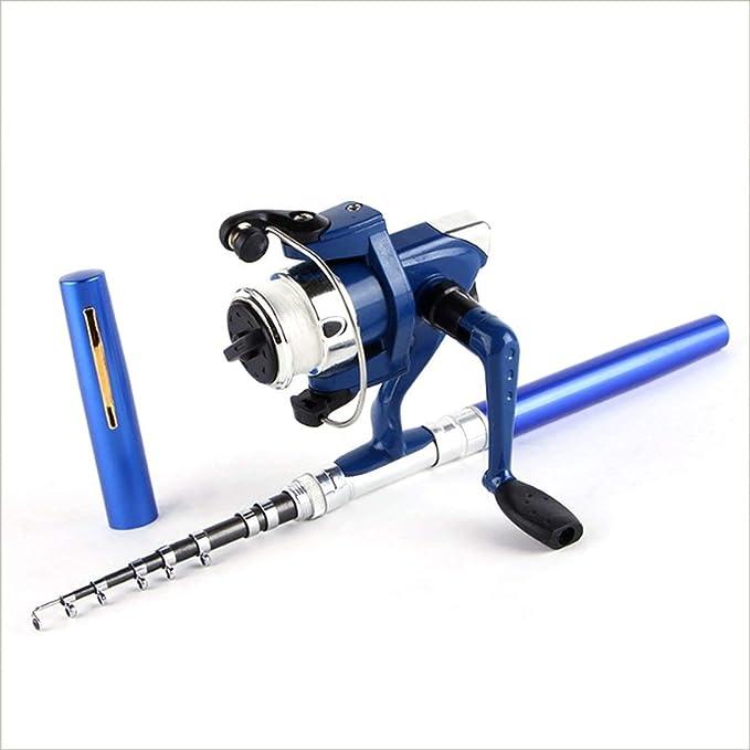Reel Tasche Angelrolle Zubeh/ör Super leichtes tragbares Feder Rod Fishing Set Mini Teleskop Angelrute Pole