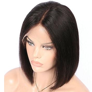 Amazon Com Glueless Short Bob Lace Front Human Hair Wigs For Black