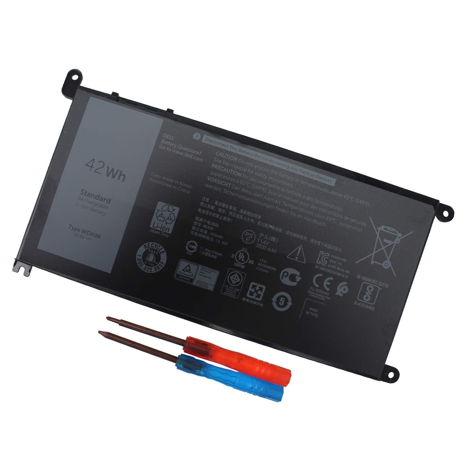 Bateria 42WH WDXOR Dell Inspiron 13 7378 7368 5378 5368 Insp
