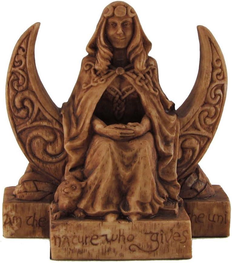 Dryad Design Small Moon Goddess Statue Wood Finish