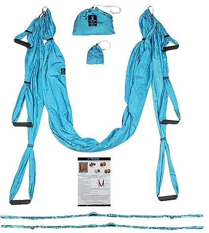 Yoga Trapeze, Estándar, Azul/Turquesa: Amazon.es: Deportes y ...