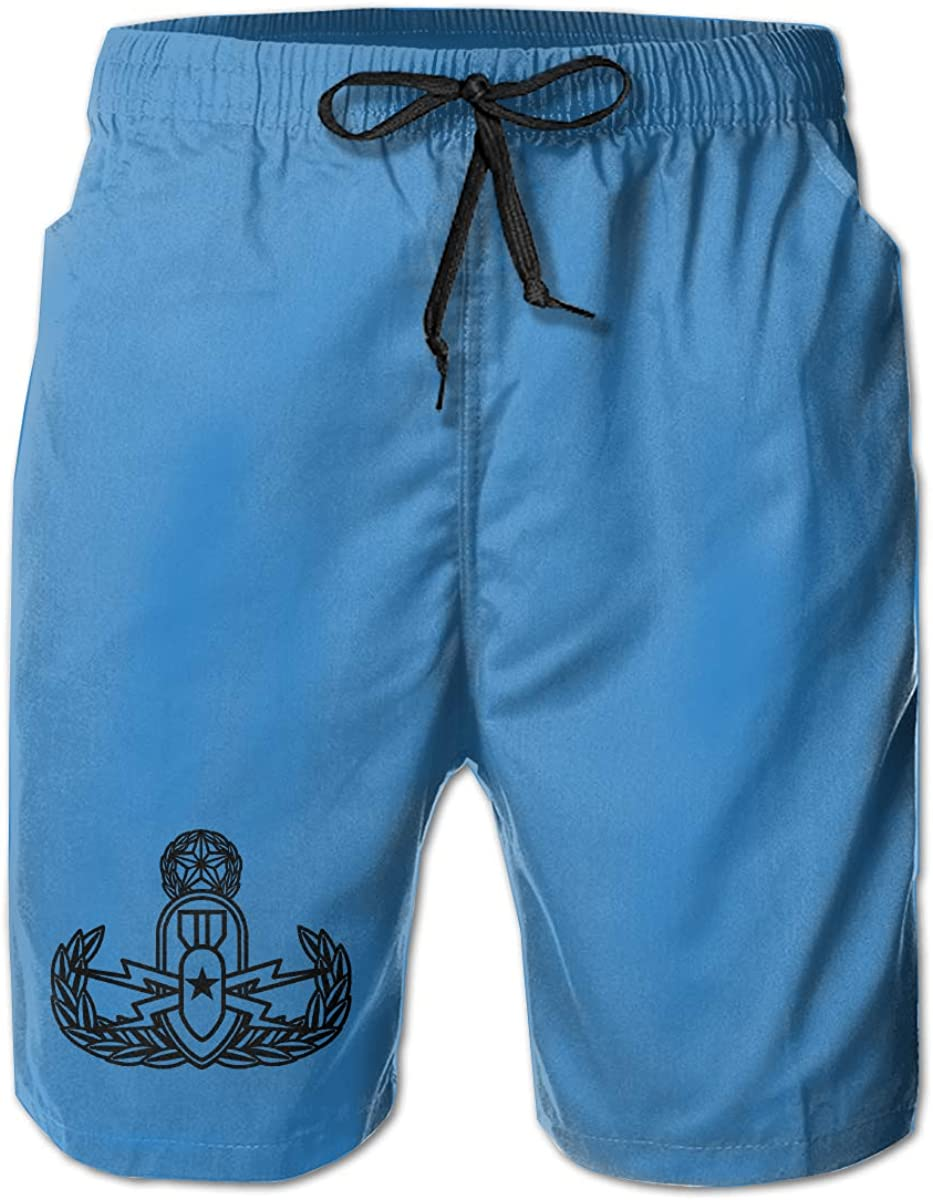 Monwe Explosive Ordnance Disposal EOD Mens Summer Casual Shorts,Beach Shorts Pocket Shorts