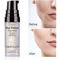 SACE LADY Makeup Foundation Face Primer, Smooth Moisturizing Pores Perfect Refining Makeup Primer for Dry Skin (6ml/0.20 Fl Oz)