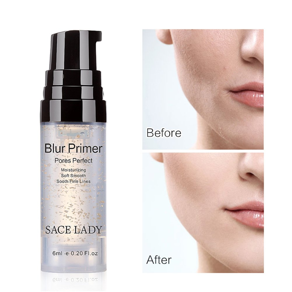 SACE LADY Makeup Foundation Face Primer, Smooth Moisturizing Pores Perfect Refining Makeup Primer for Dry Skin (6ml/ 0.20 Fl Oz)