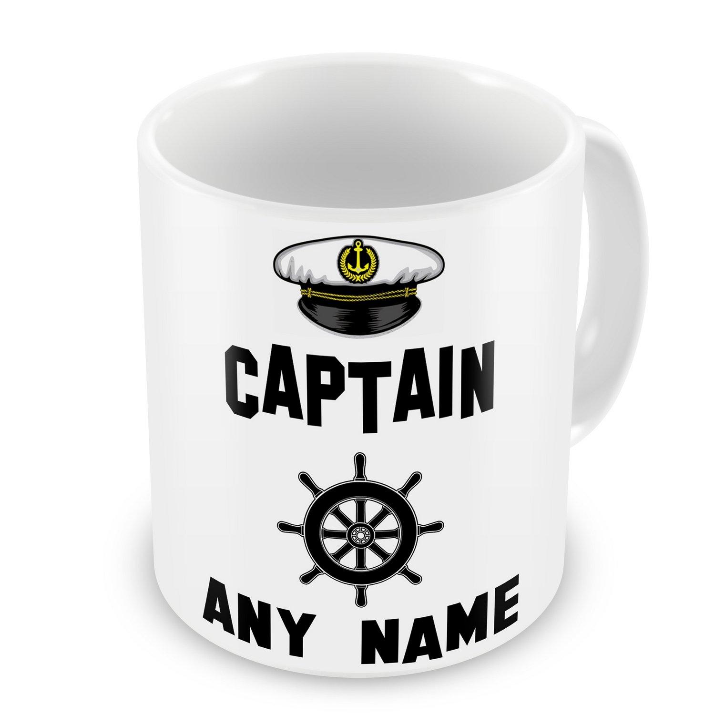 a5895129d5 Personalised Captain Any Name Novelty Gift Mug - Narrowboat Canal Boat Ship  Barge