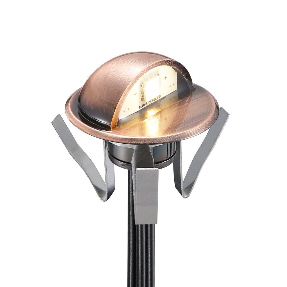 FVTLED Pack of 10 Low Voltage LED Deck lights kit Φ1.38 ...
