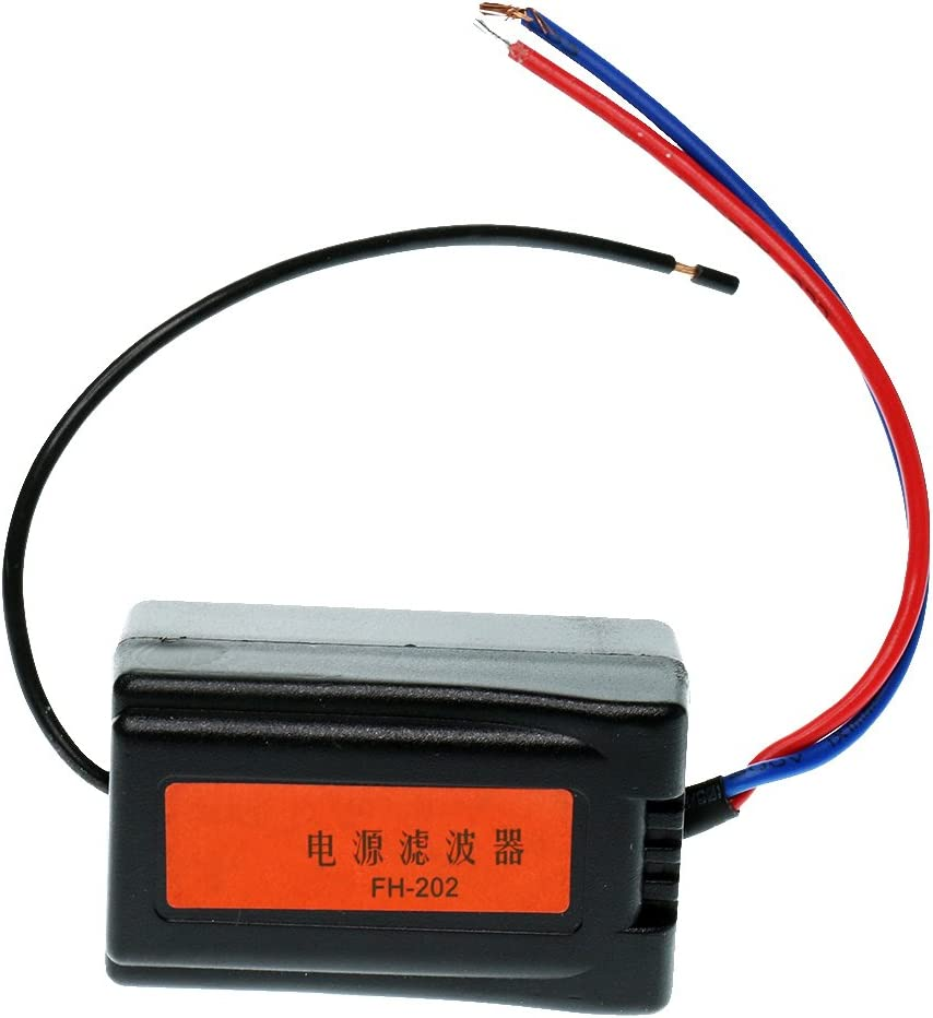MagiDeal 12V Pre-wired Black DC Plastic Audio Power Filter for Car ...