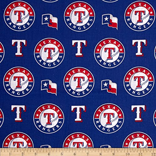 Fabric Texas Yard - Fabric Traditions MLB Cotton Broadcloth Texas Rangers Red/Blue Fabric by The Yard,
