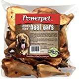 Powerpet: Beef Ears - Natural Dog Chew - Helps Improve Dental Hygiene - 100% Natural & Highly Digestible - Helps Keep Your Dog Healthy & Happy