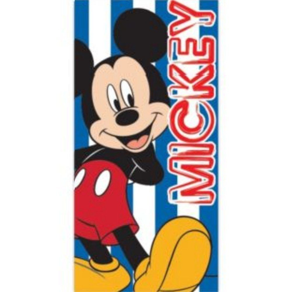 Disney Mickey Mouse Childrens Boys Printed Beach Towel (28in x 56in) (Blue)