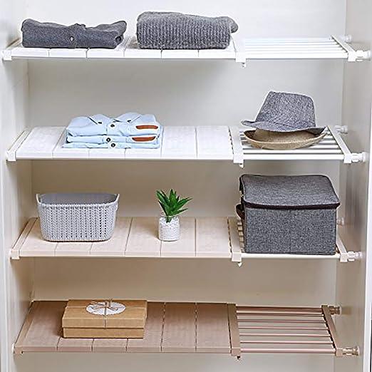 Amazon Com Ddsky Tension Closet Shelf Extendable Storage Shelves