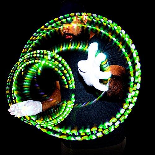 GloFX Gel Glove Set - Light Up Rave EDM 9 Mode LED Gloves by GloFX (Image #7)