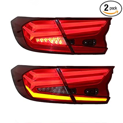 Car Tail Lights >> Amazon Com New Led Taillights Assembly For Honda Accord 2018 2019
