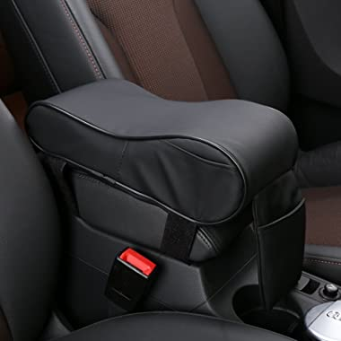 SHAKAR Universal Car Center Console Armrest Cushion Cover Pad Memory Foam with Microfiber Leather