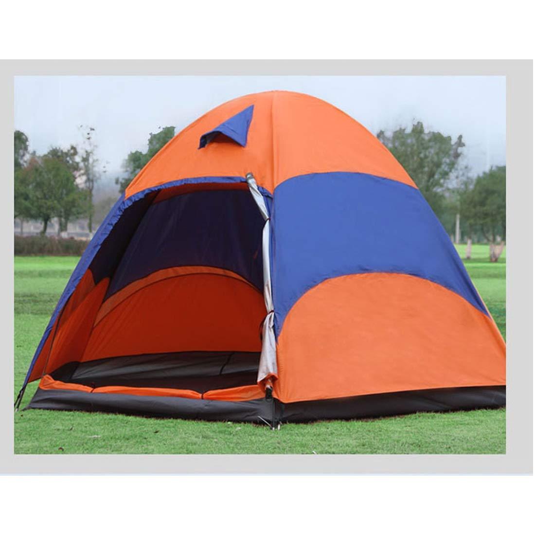 Ploekgda Regendichtes und atmungsaktives Zelt für Camping im Freien, 3 3 3 Personen und 5 Personen (Farbe   Orange) B07KXGVNBH Wurfzelte Sorgfältig ausgewählte Materialien 1e35a1