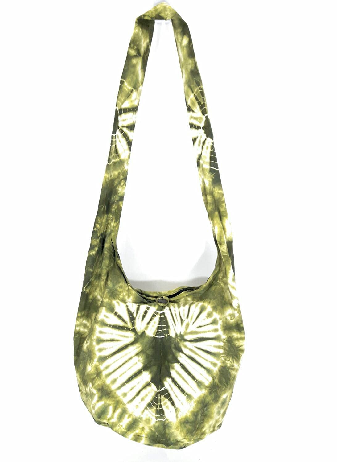 Kraft4Life Tie Dye Hippie Hobo Boho Sling Crossbody Shoulder Messenger Bag Bohemian