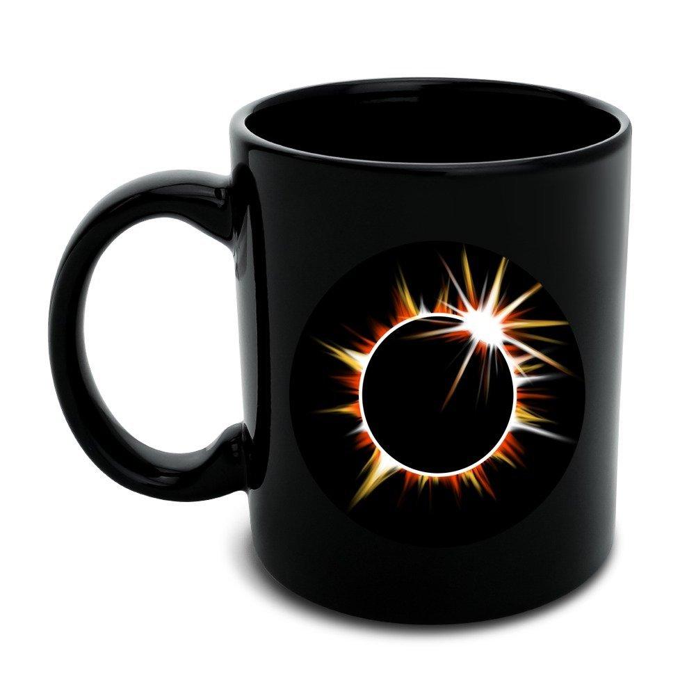 Total Solar Eclipse Painted Black Mug