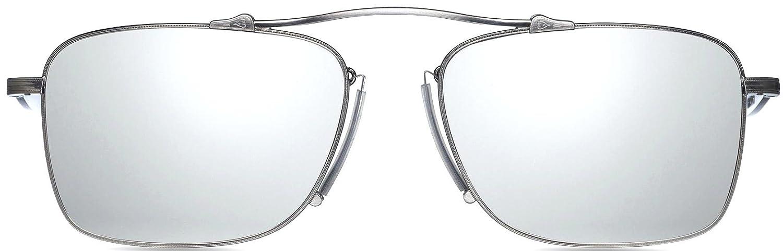 fbca9c30c8c Amazon.com  Matsuda M3047 Brushed Silver Aviator Sunglasses  Clothing