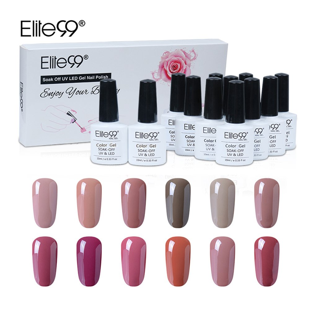 Amazon.com : Elite99 Gel Nail Polish Set Soak off UV LED Nail Art ...