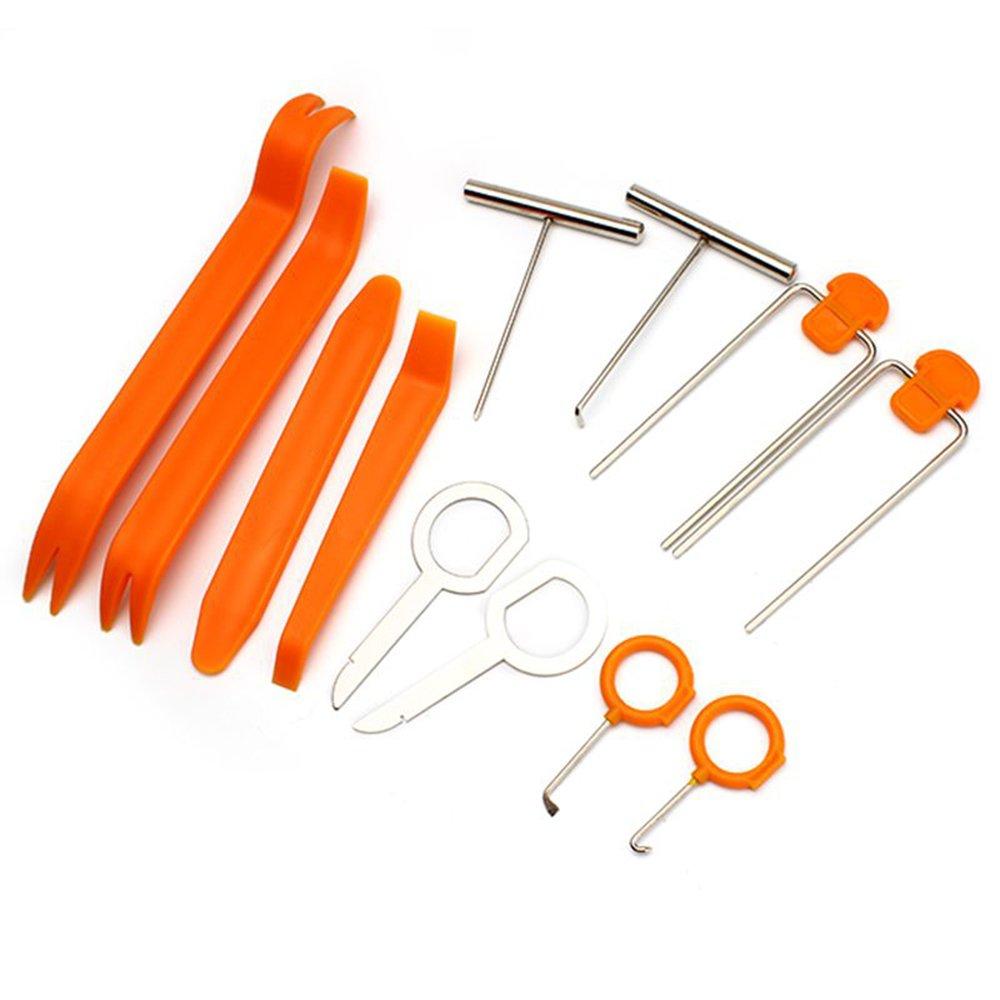 Nopnog Set di strumenti per auto da 12 pezzi, per rimuovere i pannelli del cruscotto, della radio, degli sportelli, kit di montaggio e installazione