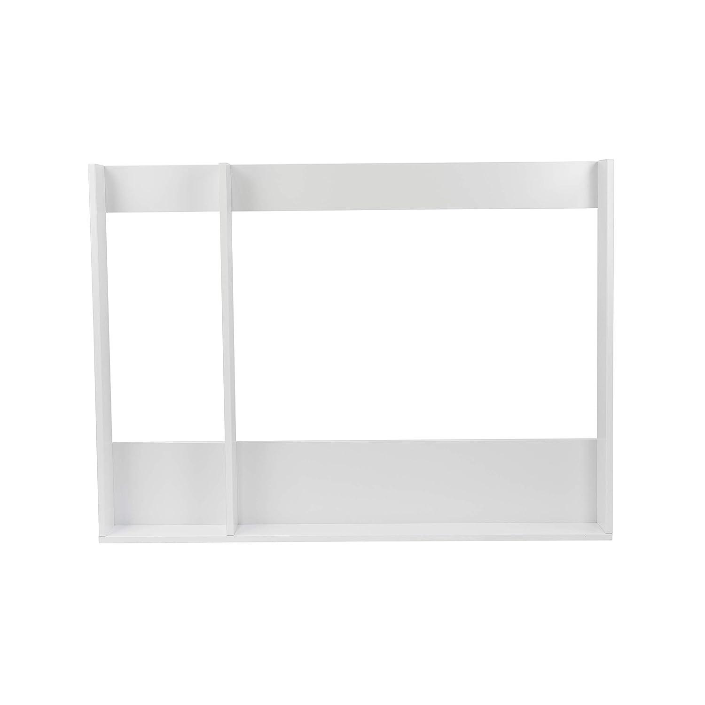 weiß weiß Puckdaddy Wickelaufsatz XXL mit Trennfach für IKEA Hemnes Kommode in 1,08m