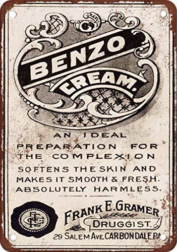 Toddrick Benzo Cream Cartel de Chapa Estilo Vintage, Cocina ...