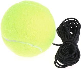 Wanfor Balles de tennis Green Resilience avec cordon en caoutchouc et bande de rebond élastique
