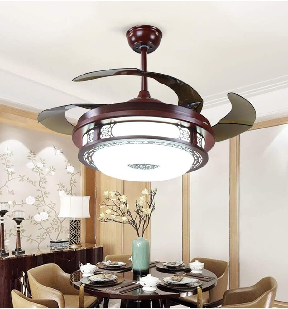 H.L Ventilador de Techo Regulable con Luces y Moderna lámpara LED ...