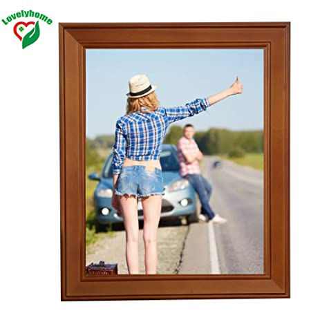 Amazon.com - Walnut 10x14 Inch Wooden Picture Frame, Wall Creative ...