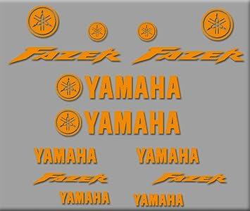 Ecoshirt SR-BANI-KA50 Stickers Fazer R314 Stickers Aufkleber Decals Autocollants Adesivi Moto GP Orange