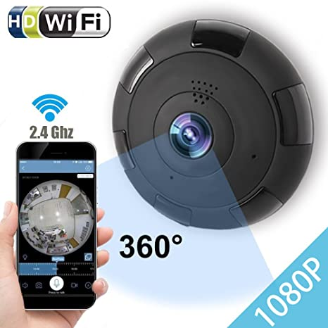Review IP Camera 360 WIFI 1080P Outdoor Indoor Dome Camera Panoramic with Audio Motion Detection Alarm Monitor at Night for Home Security Support TF Card Android IOS,Home Electronic